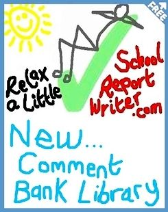 Report card comments bank and popular online report writer. FREE! Saves busy teachers hours. Stores your report card comments online. 1-click Thesaurus. STOPS (cut-&-paste) MISTAKES.  YouTube demo: http://www.youtube.com/watch?v=8mv7HuE98a4