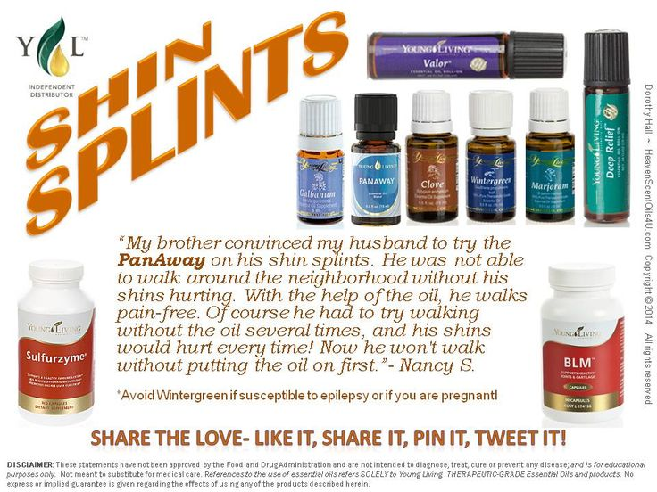 Essential oils for relief of shin splints!
