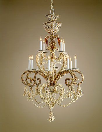 Grotto Shell Chandelier By Currey U0026 Company