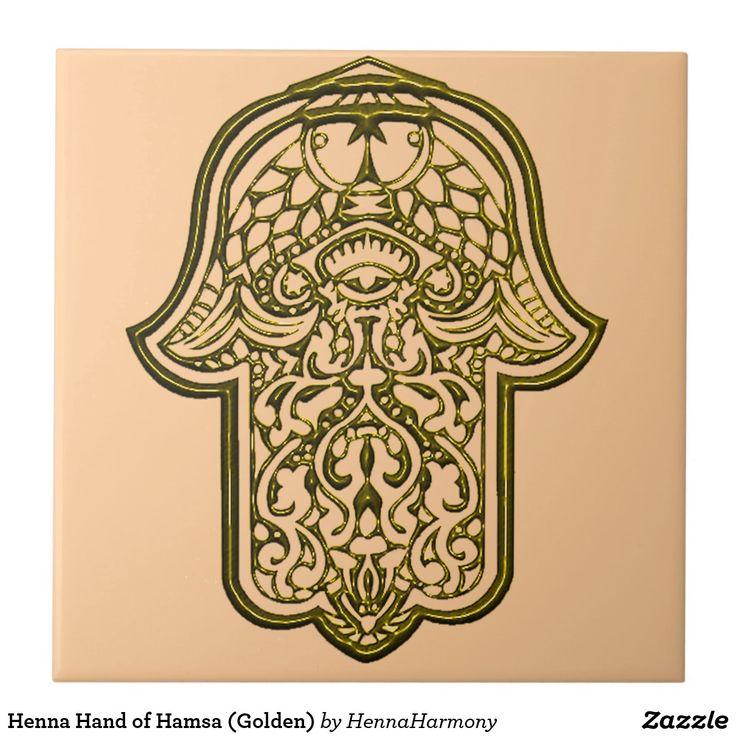 Henna Hand of Hamsa (Golden)