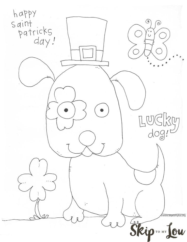 St. Patrick's Day Coloring Page preschool- free printable