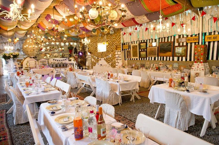 JanHarmsgat se Agterplaas is another venue is the Victorian town of Cullinan outside Pretoria. This venue is trading on a barn wedding twee. Usually venues like this try too hard to be eclectic. This barn venue reaches its chosen style effortlessly. Unfortunately its webpage is cluttered and all its linkable images are on pinterest rather then an on the site. Here is the link to the site if you don't want to follow a long chain http://janharmsgat.co.za/