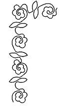 Rose Border Stencil
