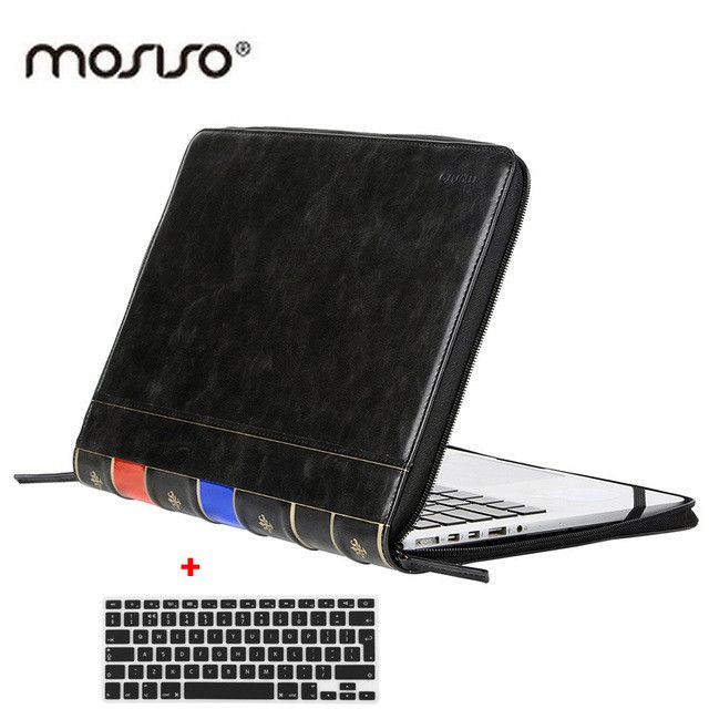 MOSISO PU Case for Apple Macbook Pro 13 Retina(A1425 A1502) Vintage High Quality PU Book Leather Sleeve Cover for Macbook Air 13