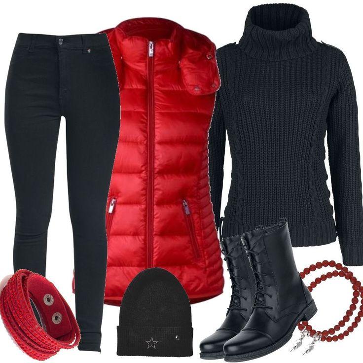 street one feminine weste real red rot fuer damen zum