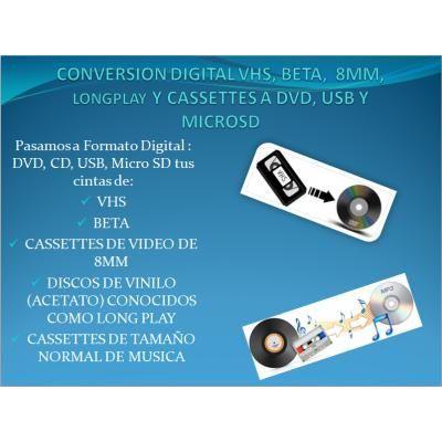 CONVERSION DIGITAL EN FORMATO DVD, CD, USB O MICRO SD DE SUS CINTAS DE VHS, BETA, CASSETTES DE 8 MM, http://sanjuandepasto.anunico.com.co/anuncio-de/informatica_servicios/conversion_digital_en_formato_dvd_cd_usb_o_micro_sd_de_sus_cintas_de_vhs_beta_cassettes_de_8_mm_lp_y_cassettes_normales_de_musica-68944583.html