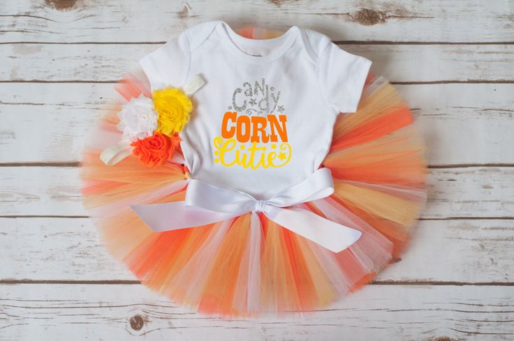 "Candy Corn outfit ""Candy"" candy corn costume baby girl halloween costume candy corn tutu Candy Corn Cutie outfit Halloween outfit toddler by thePhotoPunks on Etsy https://www.etsy.com/listing/475753767/candy-corn-outfit-candy-candy-corn"