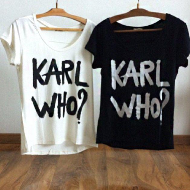 T-shirt Feminina Karl Who? - Cam Shirts