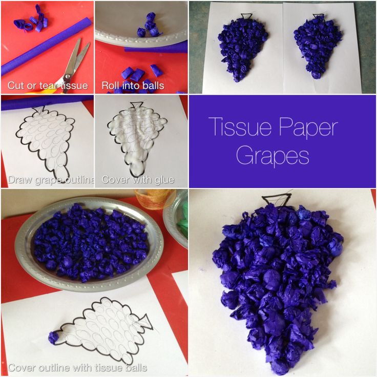 Cheap and easy grape craft which we are doing in advance for Vine craft ideas