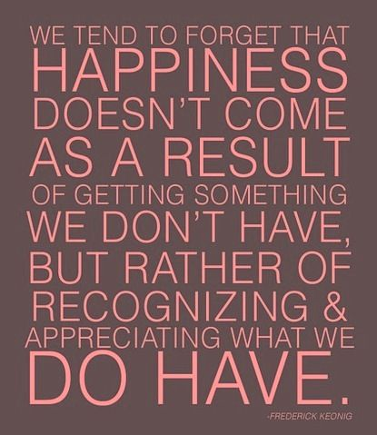 recognize the good in what you already have happiness quotes