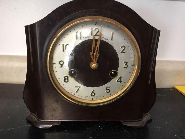 Vintage Bakelite Smith's Enfield Mantel Clock Repair Or Parts
