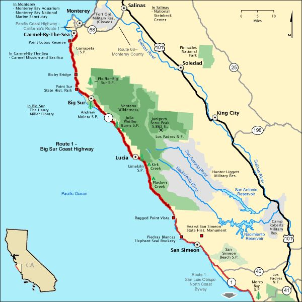 The Best Highway Map Ideas On Pinterest Pacific Coast Time - Us highway 1 california map
