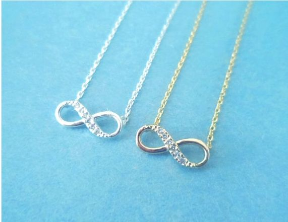 Cute, Infinity Forever, Gold or Silver, Necklace