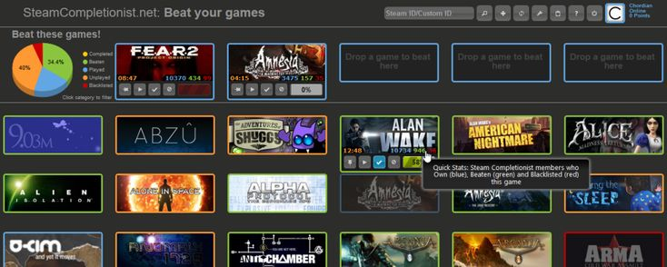Backlog/Checklist Web Sites for Video Games