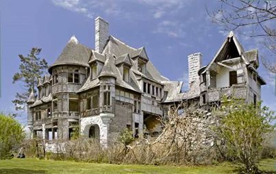 Photo: It would take millions to repair but how awesome would it be! Located near Cape Vincent, N.Y http://www.pinterest.com/pin/146578162846132252/