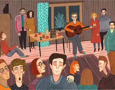 """Check out new work on my @Behance portfolio: """"Friends"""" http://be.net/gallery/49007605/Friends"""