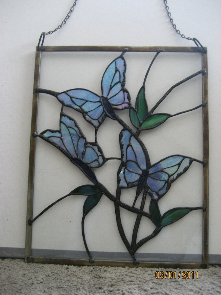 Stained Glass Butterfly Panel