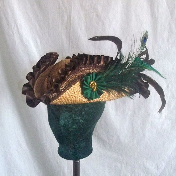 Ring In The Steampunk Decor To Pimp Up Your Home: Custom Made Pirate Hat Straw Base Renaissance Tricorn Hat