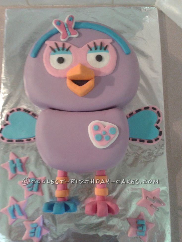 Coolest Hootabelle Cake for a 3 Year Old Princess... This website is the Pinterest of birthday cake ideas
