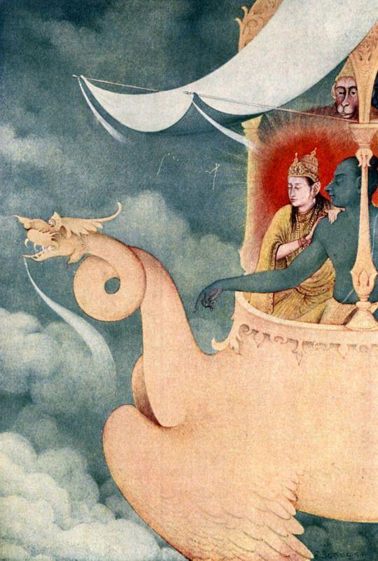 Abanindranath Tagore, The return of Rāma (राम); Myths of the Hindus & Buddhists, London Harrap, 1914.. Magic Transistor