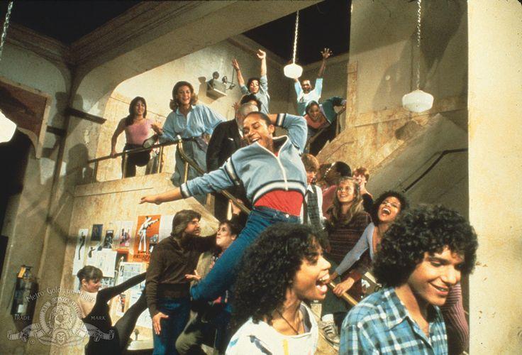 Debbie Allen, Lee Curreri, Lori Singer, Michael DeLorenzo, Erica Gimpel, Albert Hague,Carlo Imperato, Carol Mayo Jenkins, Valerie Landsburg, P.R. Paul, Gene Anthony Ray, and Bronwyn Thomas in Fame (1982)