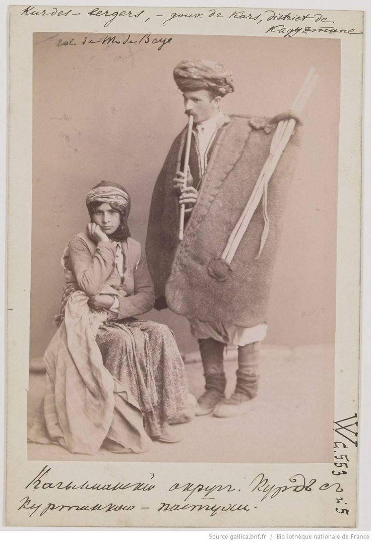 Kurdish Couple, 1890s. By Joseph de Baye.