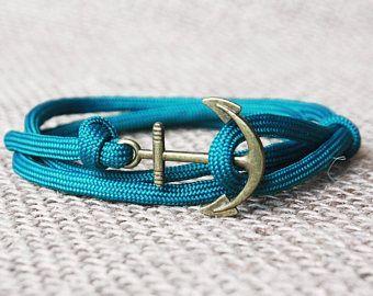 Bracelet man, paracord bracelet, anchor bracelet, nautical bracelet, Rope Bracelet, Nautical Anchor Bracelet, man anchor bracelet, sailing