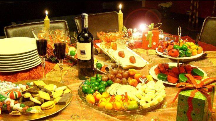 Mesa de navidad clásica