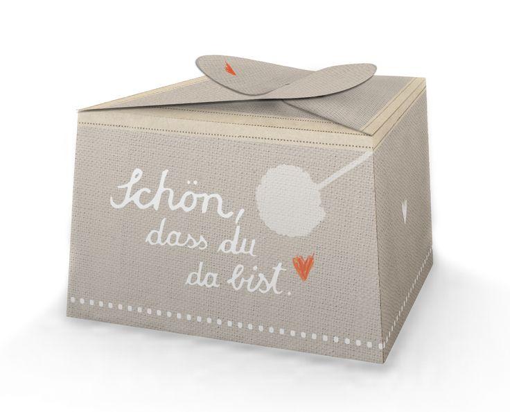 Pralinenschachtel und Geschenkbox zur Taufe oder Hochzeit BEIGE