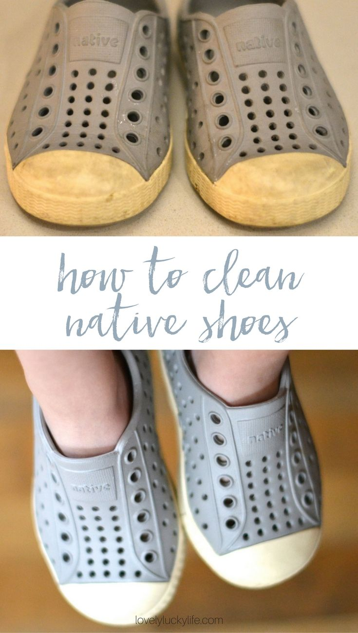 how to clean Native shoes - this would work for Crocs, too…