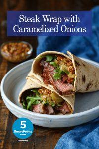 Steak Wrap with Caramelized Onions