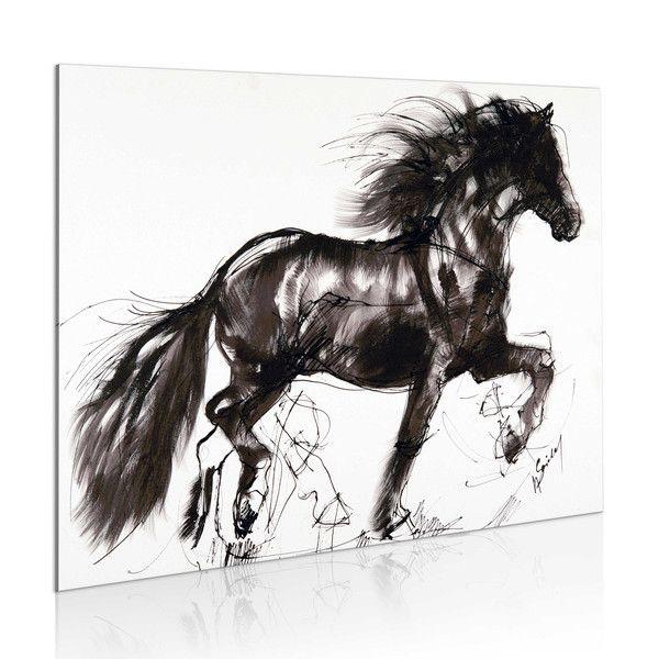 Obraz malowany 77x55 Koń 8235 - artgeist - Obrazy akrylowe #art #horse #painting