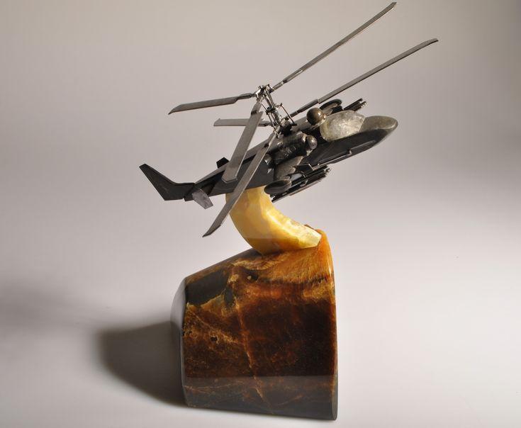 вертолет ка 52 из камня