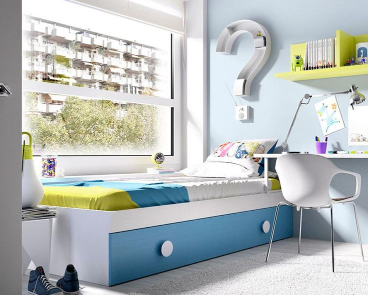 Modern Children's Single Bed with Guest Bed by Rimobel