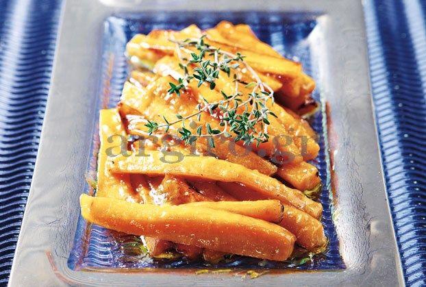 Καραμελωμένα καρότα με μουστάρδα  & μέλι