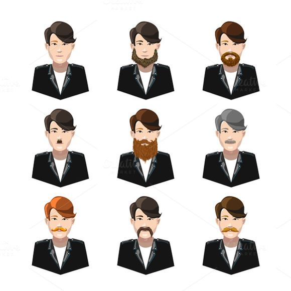 Different type of mustaches @creativework247