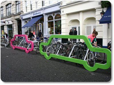 Plaats voor 1 auto is plaats voor 10 fietsen!