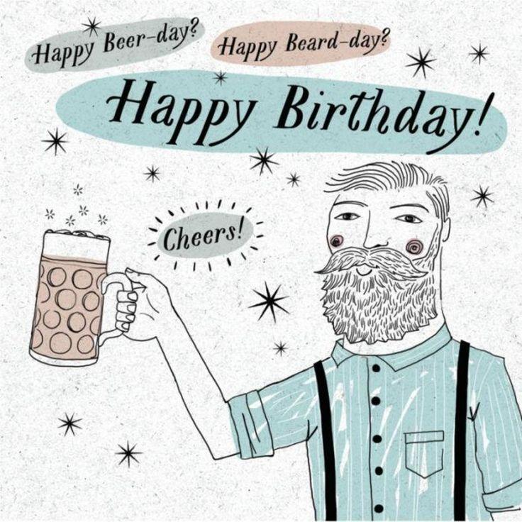 Поздравление с днем рождения мужчине с бородой