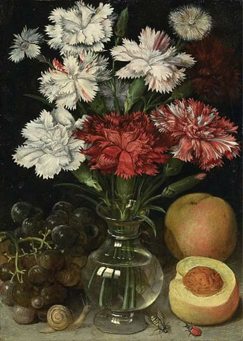 Still Life of Flowers in a Glass Vase by Georg Flegel (1566-1638)