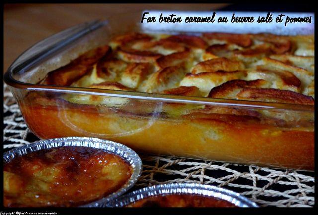 far breton caramel au beurre salé et pommes