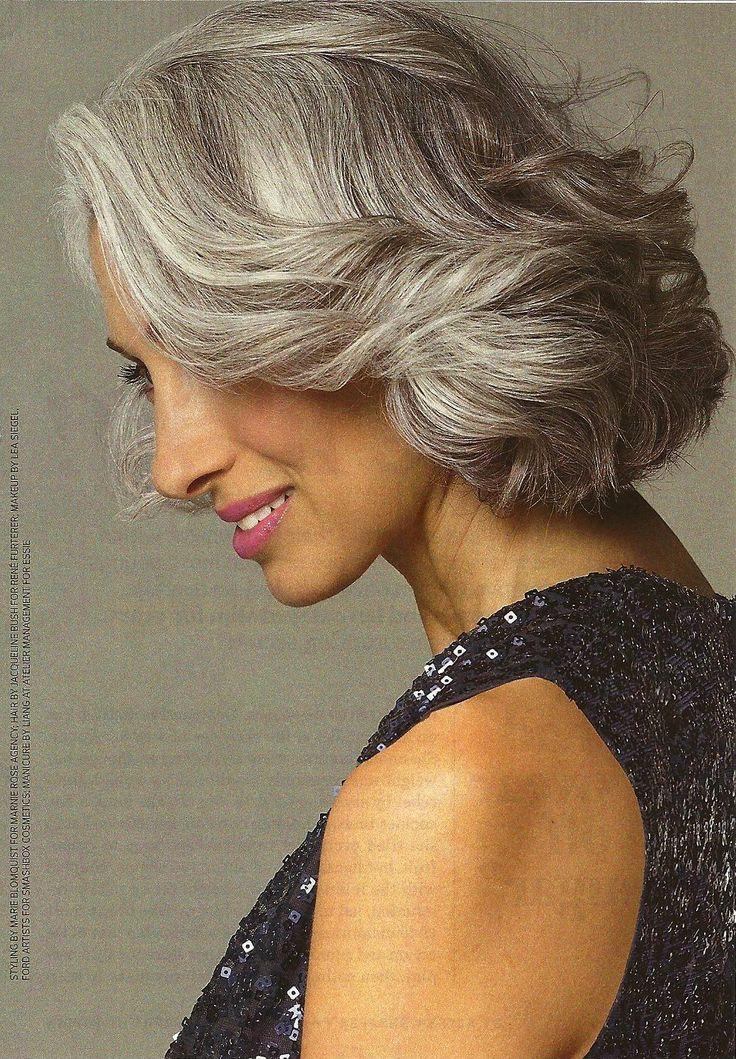 susan hersh //silver grey hair by Eva