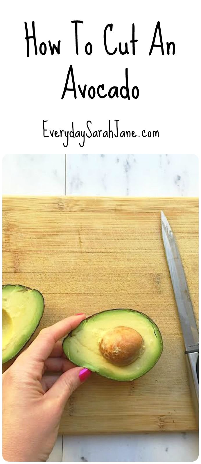 A step-by-step tutorial on how to cut and prepare an avocado XO