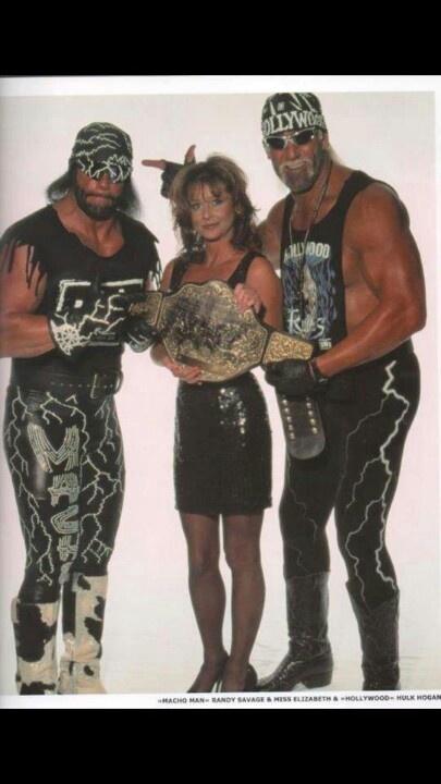 Macho man & Hulk Hogan.