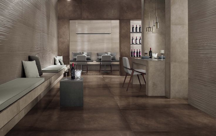 Minoli Tiles - DreamWell - Different sizes, colours, features, this new collection is your urban dream coming true. DreamWell by #Minoli is a concrete effect porcelain tile that will give the look you were expecting to your place. Floor tiles: DreamWell Brown Lappato 120 x 120 cm - https://www.minoli.co.uk/tiles/dreamwell-brown/ - #minolitiles #porcelain #tile #porcelaintile #tiles #porcelaintiles #concrete #look #concretelook #effect #concreteeffect #DreamWell #brown #lappato #urban…