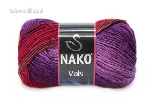 Nako Vals włóczka w tonacji fioletów, brązu i czerwieni