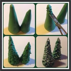 Hallo, hier habe ich eine ganz kurze Anleitung für euch wie ihr einen winterlichen Baum aus Fondant machen könnt. Folgendes braucht ihr dazu: grünen Fondant Zahnstocher Nagelschere Zuckerkleber Pud…