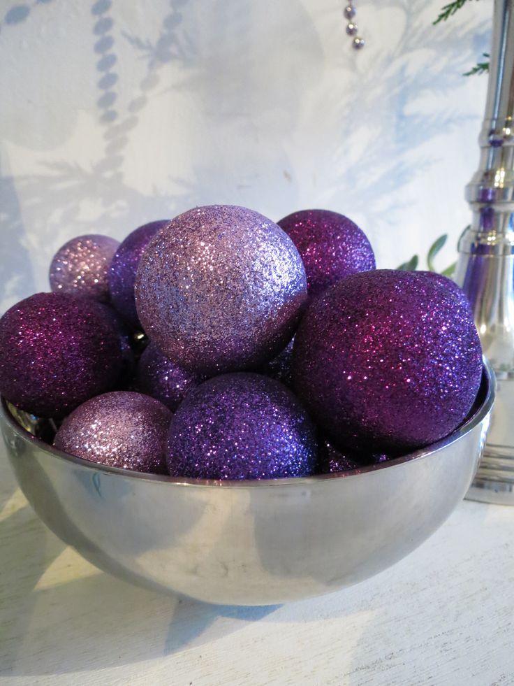 Purple Christmas Decorations | Purple & Silver Christmas Decor