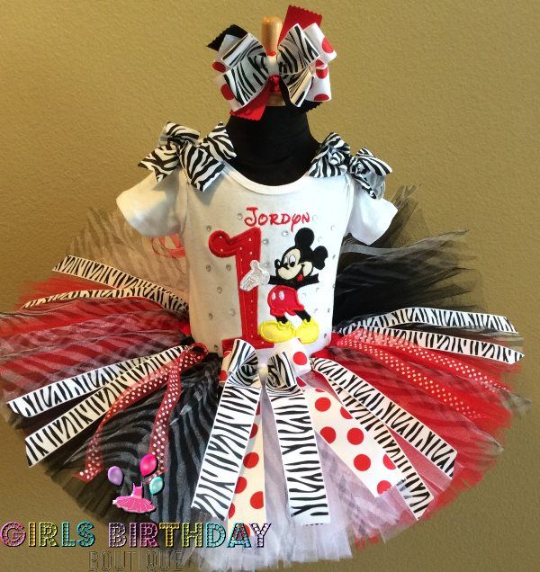 Mickey Mouse 1st Birthday Girls Tutu Outfit
