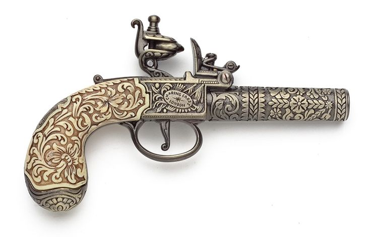 ENGLISH 18TH CENTURY REPLICA FLINTLOCK PISTOL NON FIRING REPLICA GUN - REVOLUTIONARY WAR - WEAPONS - GUNS