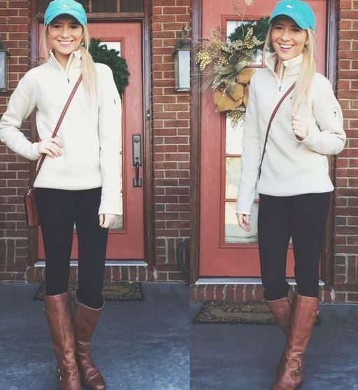 this is such a cute date night outfit for a hockey game!